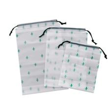 Cactus Transparent Pencils Organizer stationery bag school office desk supplies