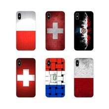 Voor Samsung Galaxy S2 S3 S4 S5 Mini S6 S7 Rand S8 S9 S10E Lite Plus Telefoon Shell Covers Nationale vlag Polen Zwitserland Paraguay(China)