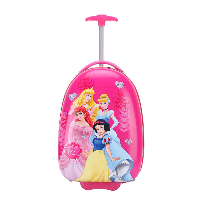 16/18 inch princess cartoon trolley case kids travel students travel luggage child suitcase girl anime School trolley case