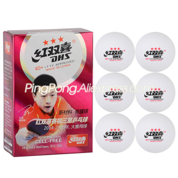 DHS 3-Star Table Tennis Ball (1st Generation) Plastic Original DHS Ping Pong Balls ITTF Approved фото
