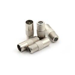 5pcs/lot Coaxial Coax RF Adapter Connectors TV PAL Male Plug to