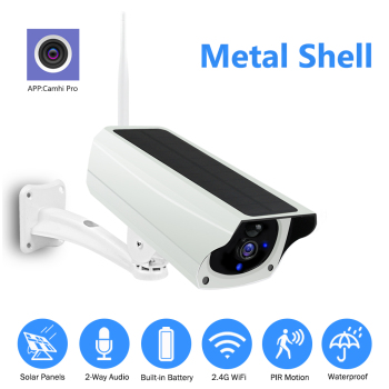 WIFI Wireless Solar Camera 1080P Metal Shell Outdoor Security Surveillance CCTV Bullet 2MP HD Battery IP Camera CamHi Pro APP 1