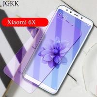 JGKK Anti Blau Lila Licht Gehärtetem Glas Anti-Glare Screen Protector Film für Xiaomi Mi 5X A1 6X A2 a3 Gehärtetem Glas Film 9H