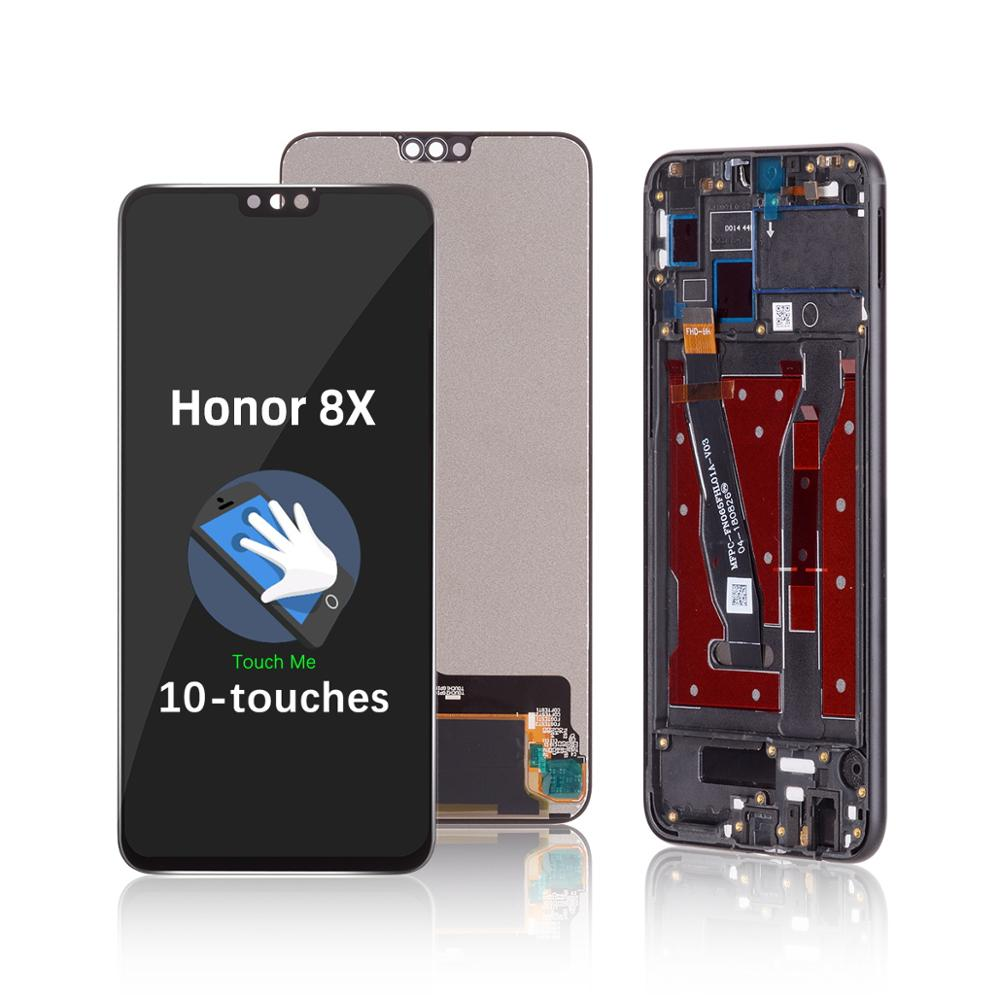 JSN-L22 <font><b>lcd</b></font> JSN-AL00 With Frame <font><b>Lcd</b></font> Touch Screen For <font><b>Honor</b></font> <font><b>8x</b></font> 10-toques Module For Huawei <font><b>Honor</b></font> <font><b>8x</b></font> <font><b>Lcd</b></font> Replace On Replacement L image