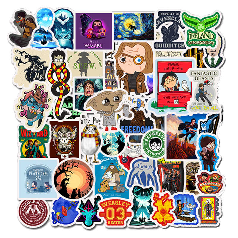 10/30/50Pcs Classic Movie Pottenbakkers Sticker Grappige Anime Harry Voor Telefoon Laptop Plakboek Scooter Speelgoed Voor kinderen Sticker