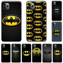 Hot Koop Cool Marvel Batman Logo Cover Black Soft Shell Telefoon Case Voor Iphone 5 5S Se 5C 6 6S 7 8 Plus X Xs Xr 11 Pro Max(China)