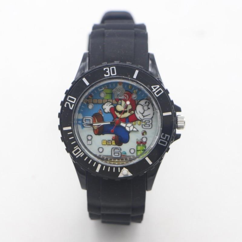 New Arrival Super Mario Silicone Quartz Kids Watch Sports Fashion Boy Students Children Watches  Relogio Kol Saati Clock