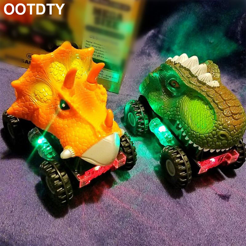 1Pcs Dinosaur Cars Dinosaur Vehicles Pull Back Cars With LED Light Dinosaur Sound Toys For Boys Toddlers Kids Gifts