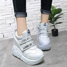 YeddaMavis White 12CM Platform Sneakers Super High Heels Women Shoes New Thick Bottom Womens Woman Trainers
