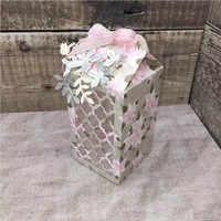 3D Del Cerchio Del Merletto Piega Scatola di Carta In Metallo Fustelle per FAI DA TE Scrapbooking Album di Carte di Carta Fare Artigianato Decorativi Taglio Muore