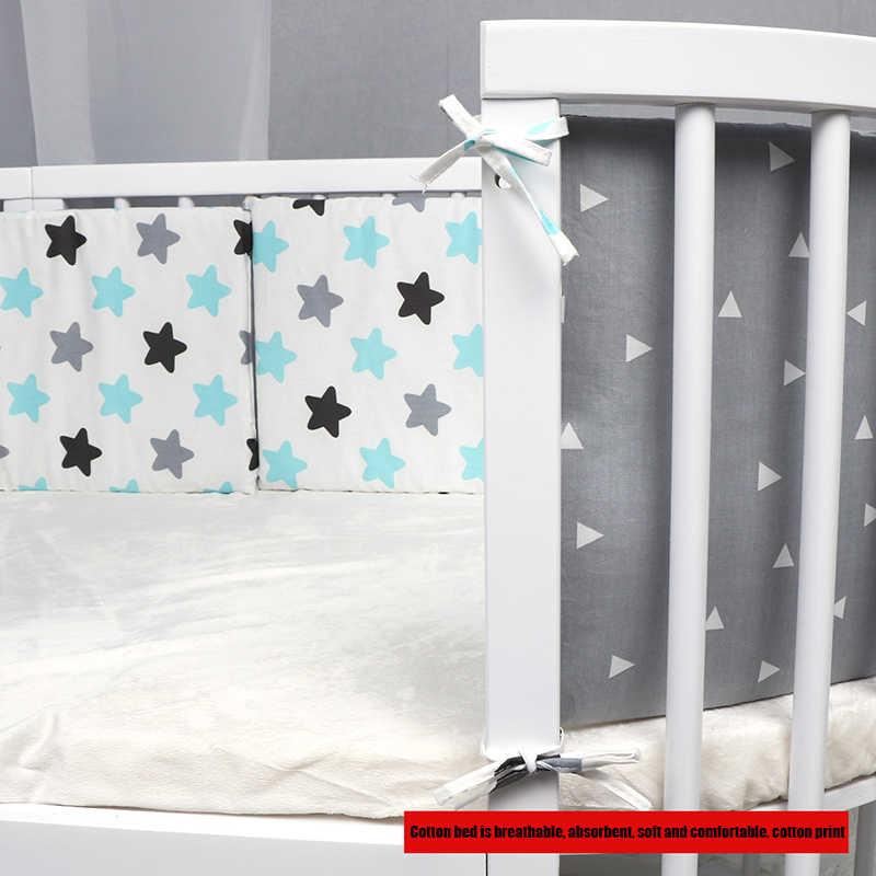 Caliente parachoques cuna recién nacido seguridad barandilla de la cama que bebé Anti-colisión de la impresión del patrón de algodón cuna Protector Unisex