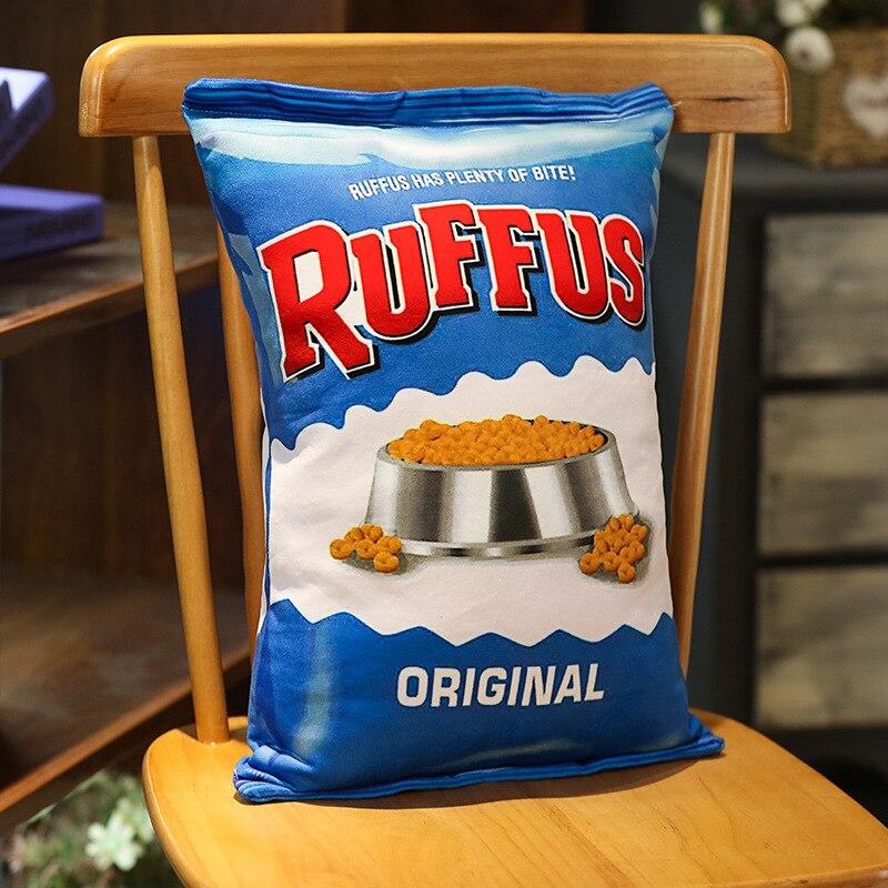 comida snack coxim plushie adereços presente