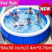 240x76cm(94x30 Inch) PVC Swimming Pool Family Child Kids Play Pool Summer Water Sports Inflatable Garden Swim Bath Tub Kids Toy
