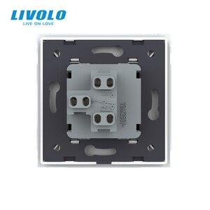 Image 5 - Livolo יצרן האיחוד האירופי סטנדרטי יוקרה זכוכית קריסטל לוח, לדחוף כפתור 2 דרך מתג, מקלדת מתג, מפתח pad צלב מתג