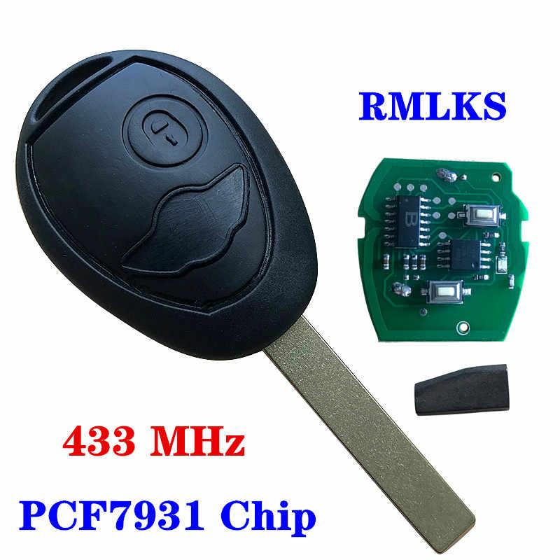 Chiave a distanza di Fob COMPLETO 433MHZ CON L'ELETTRONICA Per Mini Cooper R50 R53 Sistemi di Allarme Securit Fit Per BMW Mini rover 75
