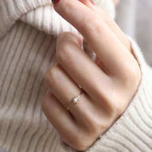 New Natural Freshwater Pearl 14K Gold Ring Fashion Designer Ladies Wedding Jewelry Simple Style Exquisite Female