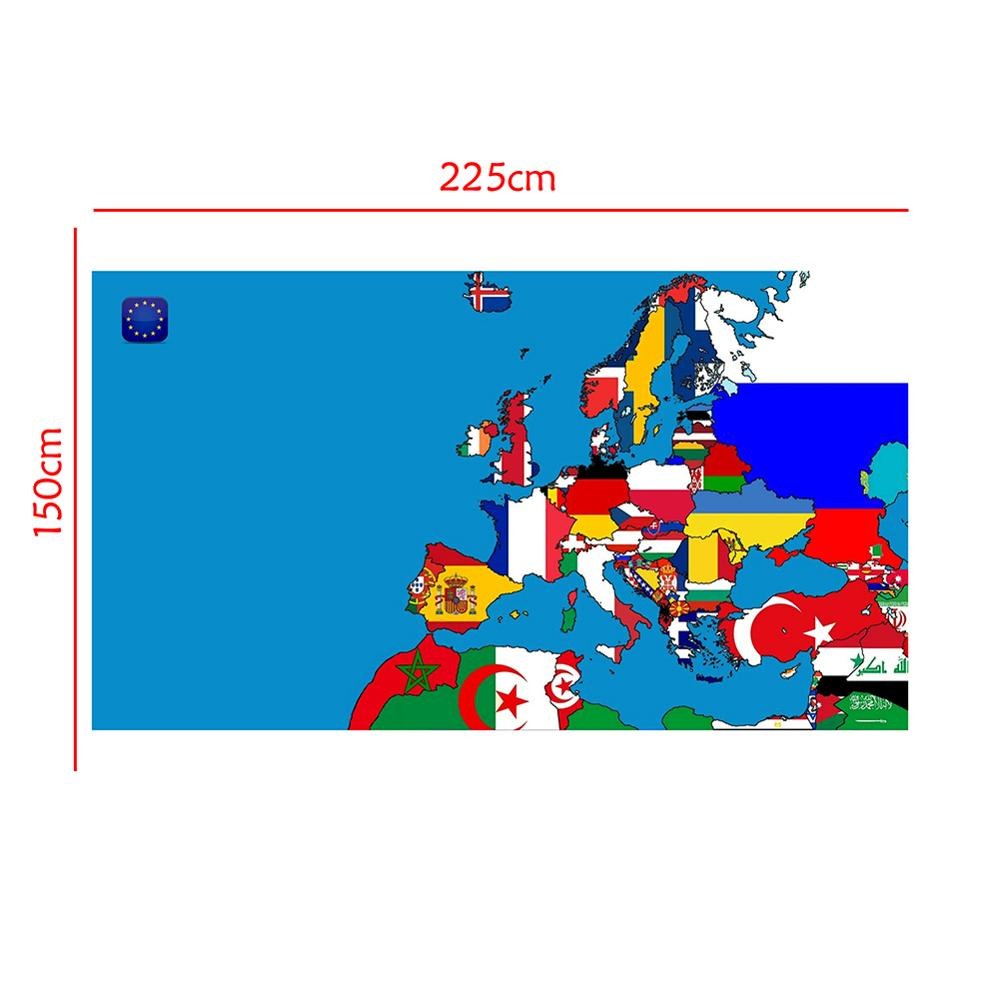 150x225cm DIY European Map Office Home Wall Decor Map Poster Waterproof Photography Background Photo Studio Backdrop