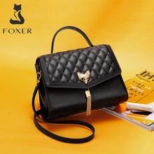 FOXER Women Shoulder Bag Female Casual Large Capacity tassel Totes Bag Luxury Diamond Lattice Design High Quality Ladies Handbag