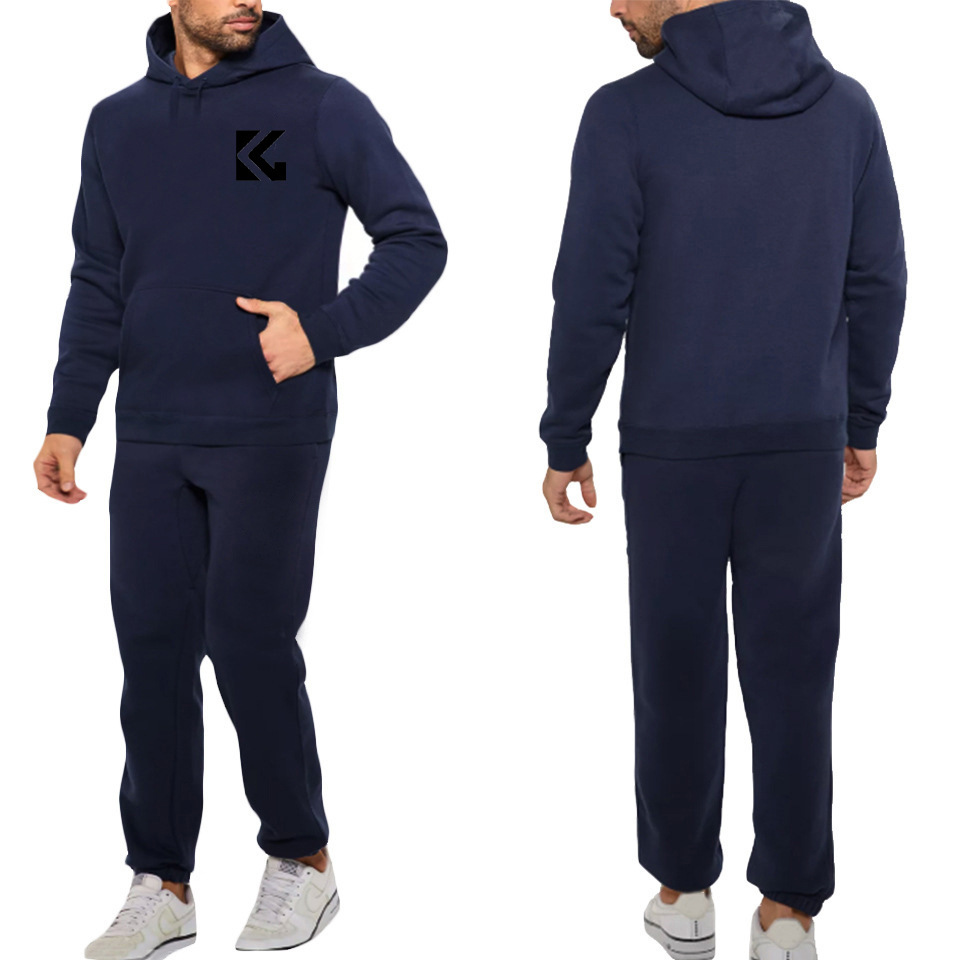 2019 Spring And Autumn Hot Selling Men Fashion Hooded Set Hot Selling Men Casual Sports Two-Piece Set