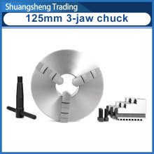 38mm spindle hole WM210 lathe 125mm diameter 3 jaw&4 jaw self-centering linkage chuck(China)