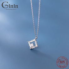 Ginin полный блестящее циркониевое Геометрическая подвеска 925