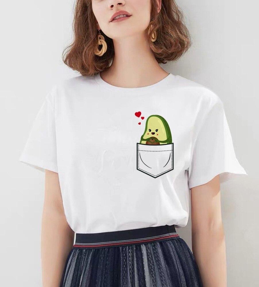Авокадо футболка футболки Одежда Мужская Новая Femme Мода Harajuku 90s Топ гранж Ulzzang футболка с изображением Kawaii женская футболка