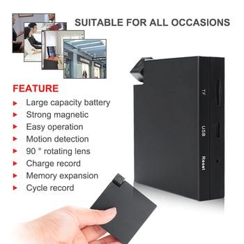 MD13 Mini cámara giratoria lente portátil magnético Cam vídeo de voz bucle grabadora Micro videocámara trabajando 20 horas