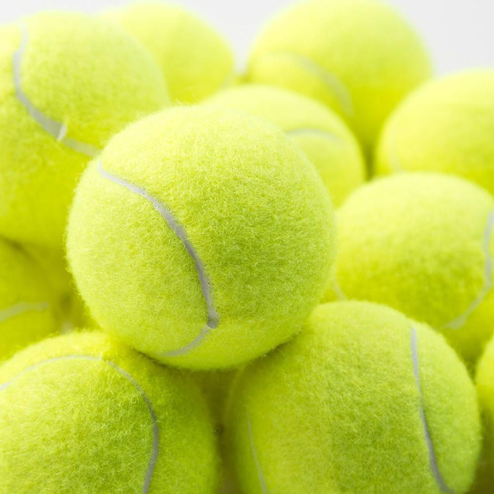 1pcs Professional Rubber Tennis Ball High Resilience Durable Tennis Practice Ball For School Club Competition Training Exercises