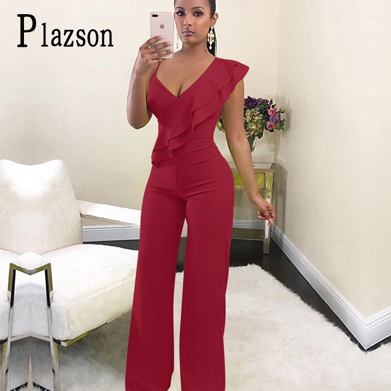 Summer Off Shoulder Women Jumpsuit Elegant Stylish Jumpsuit Layered Ruffles High Waist Jumpsuits Female Overalls Streetwear
