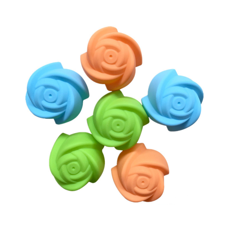 Single 7cm Large Colorful Rose Silicone Mold, Cake Mold, DIY Jelly Mold Baking Mold