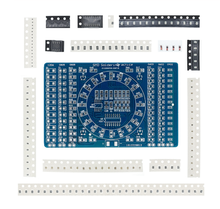 1PCS CD4017 Rotating LED SMD NE555 Soldering Practice Board DIY Kit Fanny Skill Training Electronic Suit
