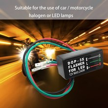 3-przewody motocykl LED przekaźnik sygnałowy wodoodporny uniwersalny DOP-3X samochód migacz dla LED 12V włączony kierunkowskaz migacz tanie tanio CN (pochodzenie)