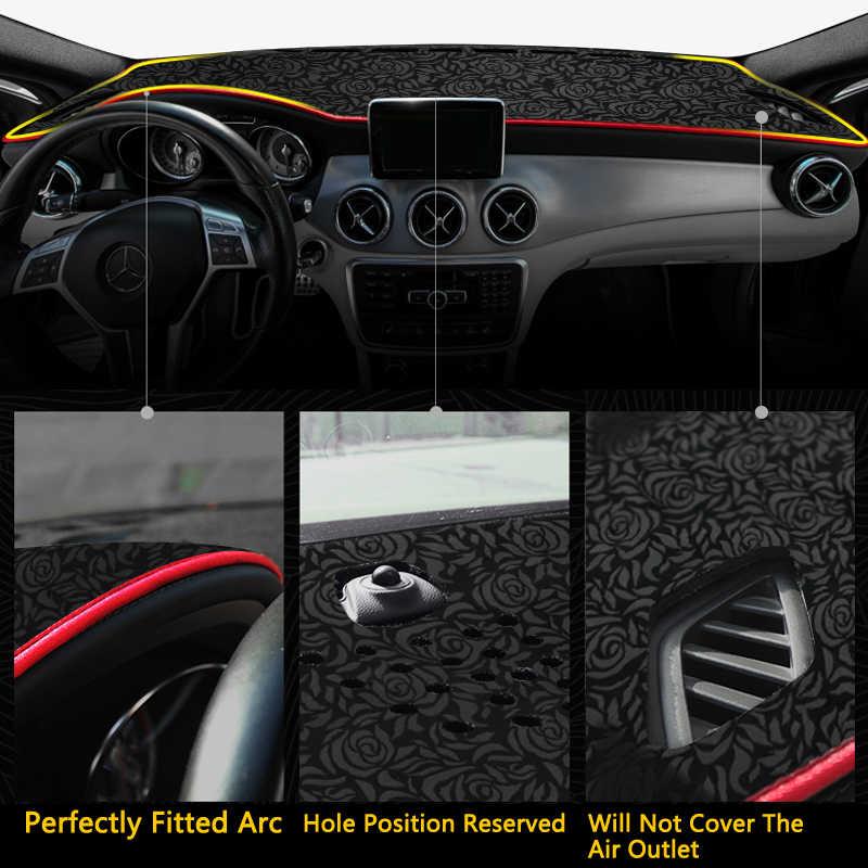 Para Toyota Corolla E210 210 2019 2020 alfombrilla antideslizante con diseño de Rosa y alfombrilla para salpicadero accesorios alfombra