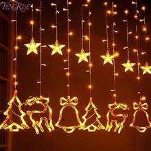Лось гирлянда с колокольчиками светильник светодиодный Рождественский Декор для дома подвесная гирлянда Рождественская елка Декор Украшение Navidad Рождественский подарок год