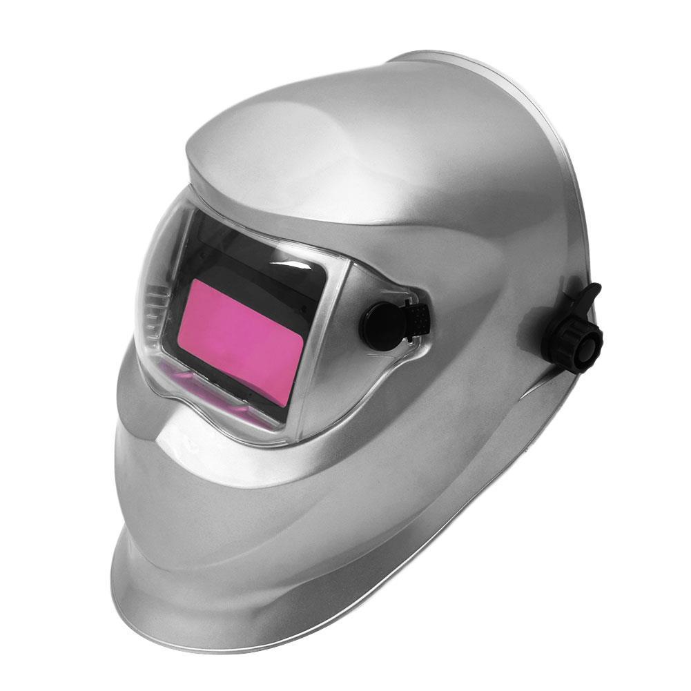 Spor ve Eğlence'ten Bisiklet Tamir Aletleri'de Gümüş koruyucu kılıf kaynak kask kaput maskesi koruyucu donanım güneş enerjisi PVC Lens taşınabilir title=