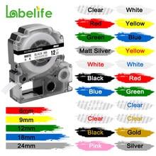 1pc ss12kw compatível etiqueta fita para LK-4WBN LC-4WBN lc 4wbn9 ss12kw 12mm cartucho para epson labelworks LW-300 400 etiqueta fabricante