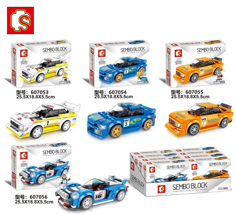 New SEMBO Blocks Super Race Car Building Bricks Famous Vehicle Compatible With Legbs Racing Educational New Year Boy Gifts Kids