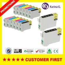 14x cartucho de tinta compatível para T0801-T0806 terno para epson stylus foto r265 t59 p50 2 conjuntos + 2 preto mais