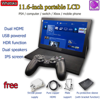 Whatsko portable display 11.6 inch HDMI gaming treasure box PS4 xbox switch mini game console screen HDR secondary screen