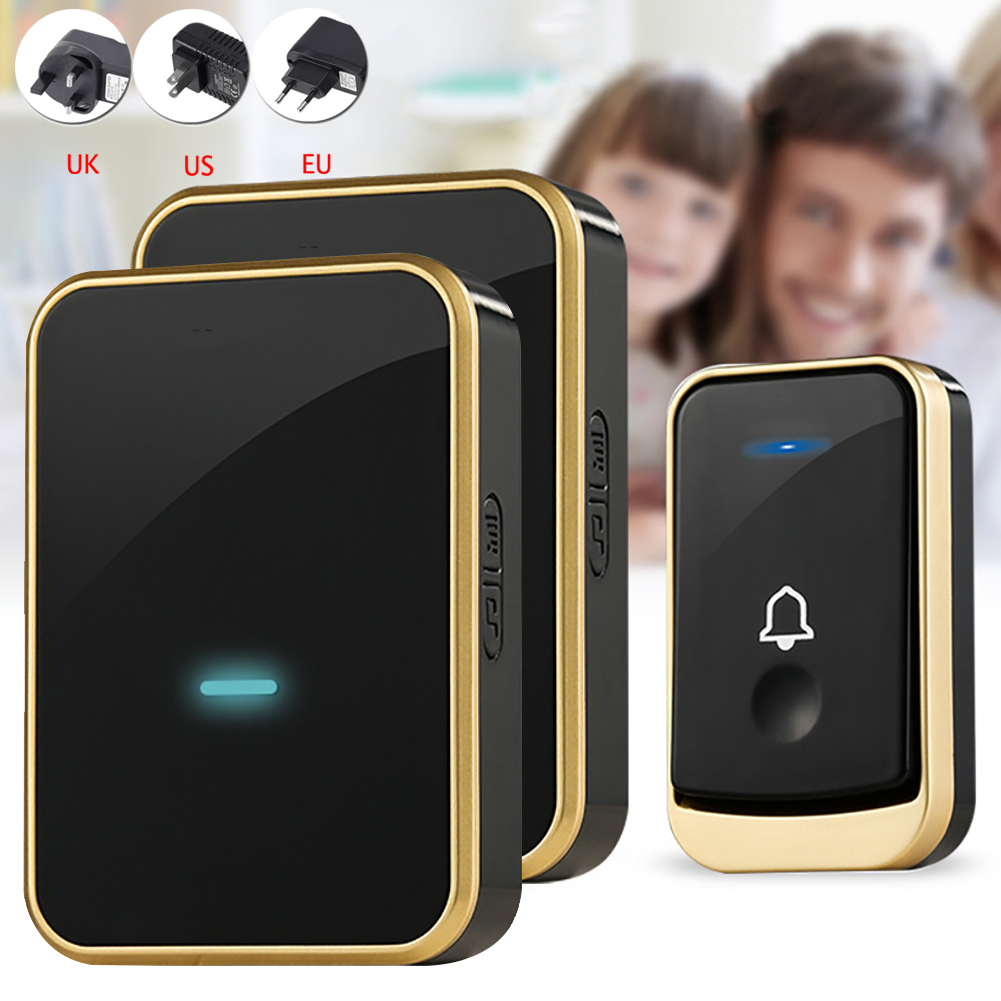 Wireless Doorbell Digital Music Doorbell Wireless Remote Control Doorbell for Smart Door Doorbell US EU UK Plug for Home