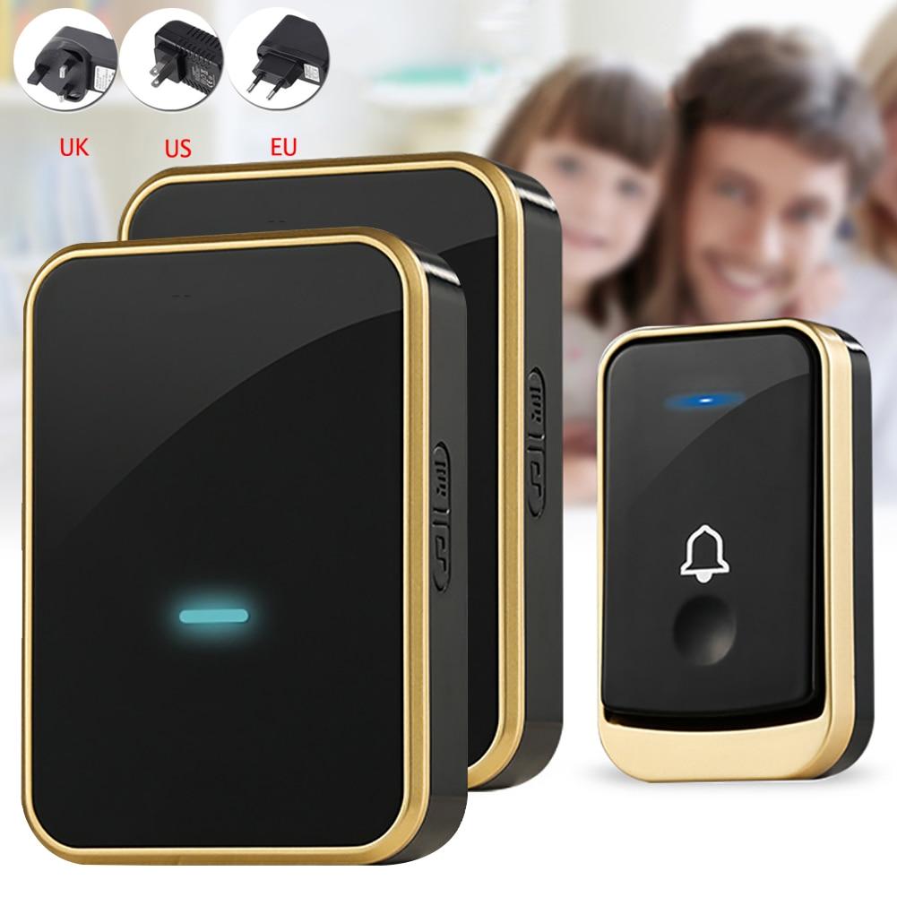 Wireless Doorbell Music Door bell Wireless Remote Control Doorbell Smart Home Waterproof DoorBell Chime 1 Transmitter 2 Receiver