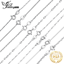 JewelryPalace 100% Genuine 925 Sterling Silver Necklace Ingot Twisted Trace Belcher Snake Bar Singapore Box Chain Women
