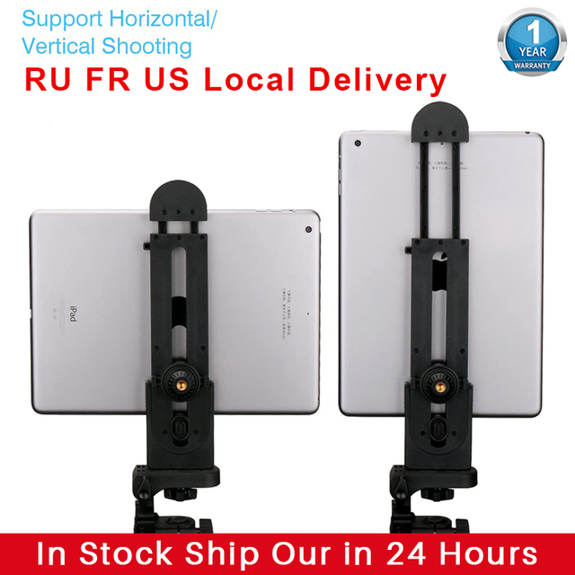 Ulanzi Tablet Mount Holder Adapter  for iPad Pro Mini Air 1 2 3 4 Microsoft Surface Live Lecture Tablet Mount Tripod Adapter