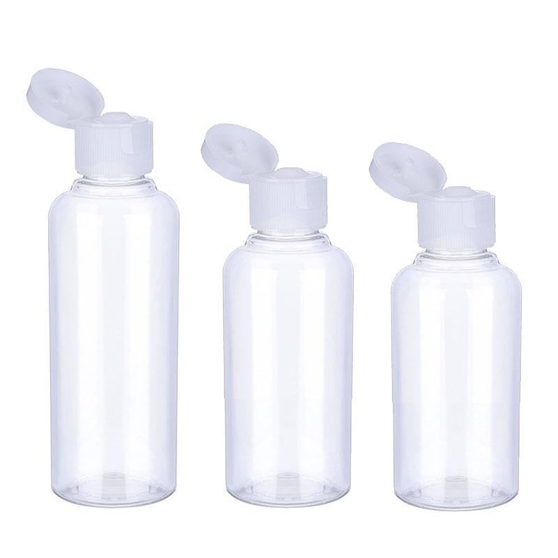 3/5/10Pcs Travel Bottle 10ml/30ml/50ml/60ml/100ml Makeup Empty Plastic Bottles Flip Cap For Liquid Lotion Cream