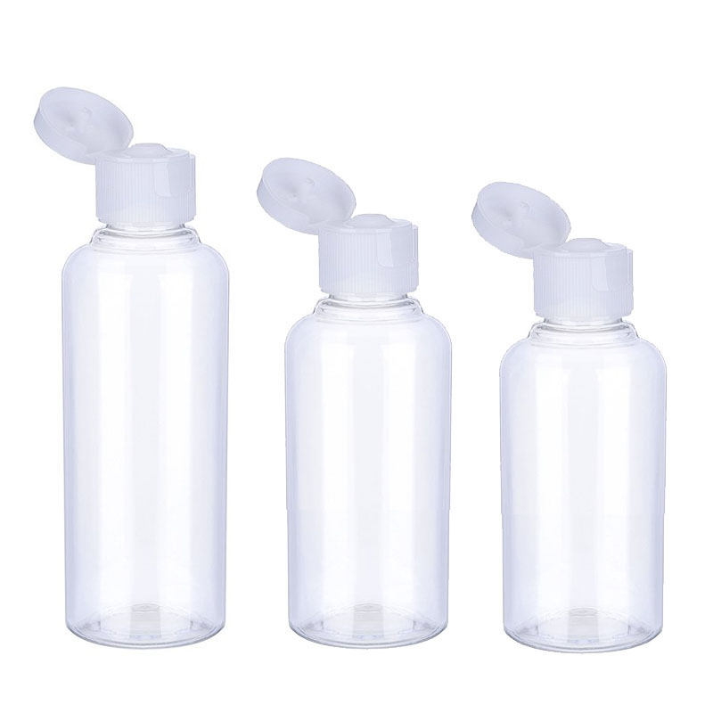 3Pcs Travel Bottle 10ml/30ml/50ml/60ml/100ml Makeup Empty Plastic Bottles Flip Cap For Liquid Lotion Cream