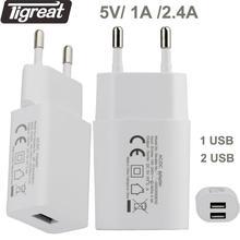 Carregador de viagem ue carregador usb 5 v 2.4a protegido rápido carregador de parede ac adaptador de tomada de energia portátil tomada para o telefone tablet