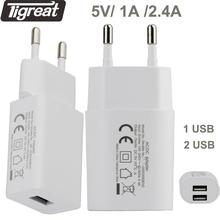 Reise Ladegerät EU USB Ladegerät 5V 2,4 EINE Geschützt Schnelle Wand Ladegerät AC Power Stecker Adapter Tragbare Steckdose für Telefon Tablet