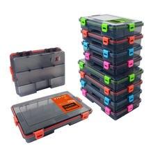 XC LOHAS – boîte de matériel de pêche, accessoires de pêche, appâts, hameçons, en plastique 11/13 haute résistance, mallette de rangement compartiments