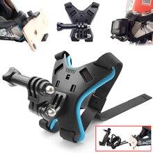 Support de fixation de casque de moto sangle fixe pour iPhone support de menton complet avec support de téléphone pour caméra daction GoPro Hero 8/7/6/5