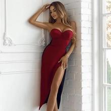 Облегающее, 2019 женское красное
